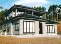 登米市登米町の家 F様邸 緑が生い茂る、森林浴効果の家