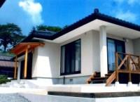 栗原市築館の家 T様邸 外観とウッドデッキがマッチした、丈夫な平屋の戸建住宅